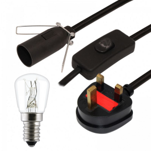 Himalayan Salt Lamp Replacement Cable / Cord and Bulb