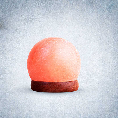 Himalayan Rock Salt Sphere Shaped USB Lamp