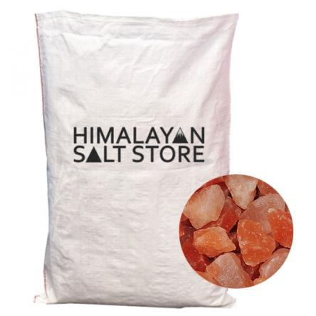 Pink Himalayan Rock Salt Chunks 10-65mm – 25KG