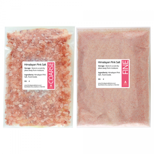 Pink Himalayan Rock Salt Coarse and Fine Food Grade